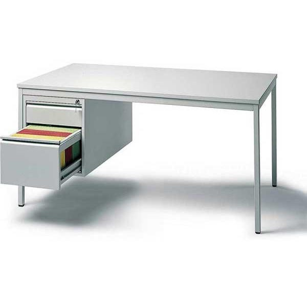 Schreibtischkombination BASE L 200 x 80 x 72 cm mit Hängecontainer (Hängeregistratur und Schub)