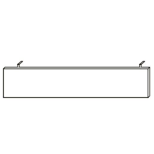 Knieraumblende EVO, 170x1,8x31 cm