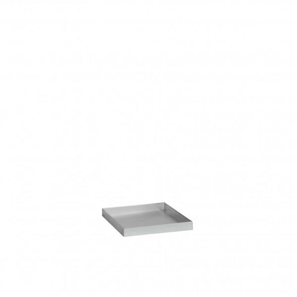 Auffangwanne aus Stahl für Umweltschrank mit Drehtür B50xT50cm