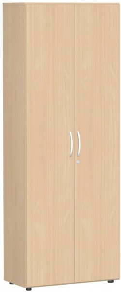 Garderobenschrank mit ausziehbarem Garderobenhalter, 80x42x216cm, Buche Buche