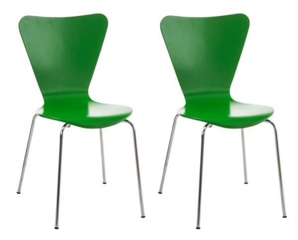 2er Set Besucherstuhl Calisto, grün