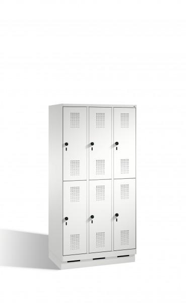 Doppelstockspind Evolo auf Sockel, 6 Fächer, 180x90x50cm