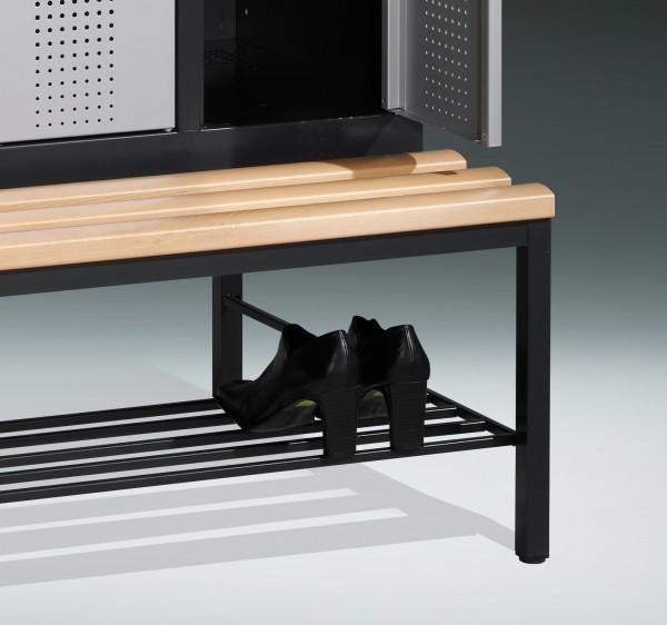 Schuhrost aus Rundmetall für untergebaute Sitzbank, pro Abteil 30cm