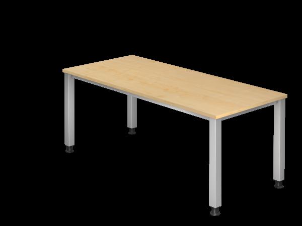 Schreibtisch 4-Fuß eckig 180 x 80 cm