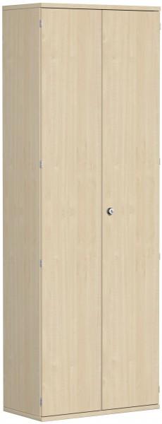 Garderobenschrank mit ausziehbarem Garderobenhalter, 80x42x230cm, Ahorn