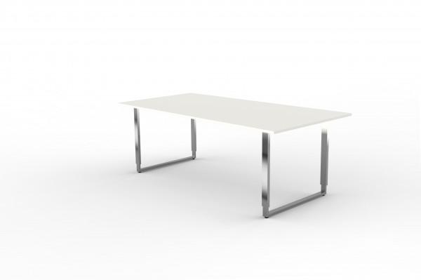 Schreibtisch Aveto 200 x 100 x 68-82 cm Bügelgestell