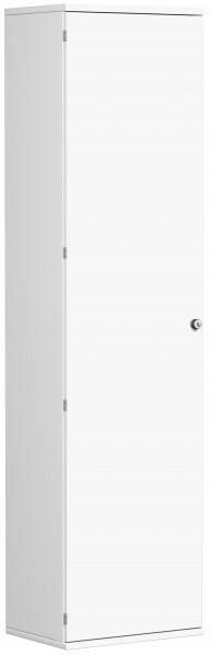 Garderobenschrank mit ausziehbarem Garderobenhalter, 60x42x230cm, Weiß