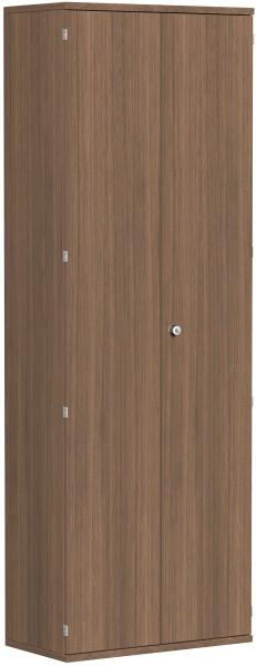 Garderobenschrank mit ausziehbarem Garderobenhalter, 80x42x230cm, Nussbaum