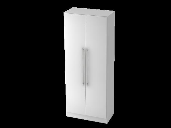 Garderobenschrank 5 Ordnerhöhen, RE Weiß / Weiß