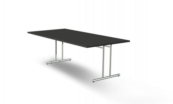 Schreibtisch Artline, 200x100x72cm, C-Fuß Gestell, Anthrazit