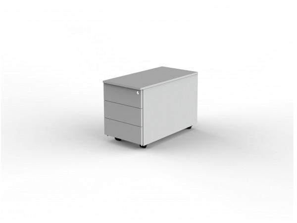 Rollcontainer Modus 42 x 80 x 54 cm abschließbar Lichtgrau