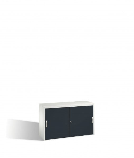 Akten-Sideboard Acurado mit Schiebetüren, 2 x 2 Ordnerhöhen, 72x120x40cm