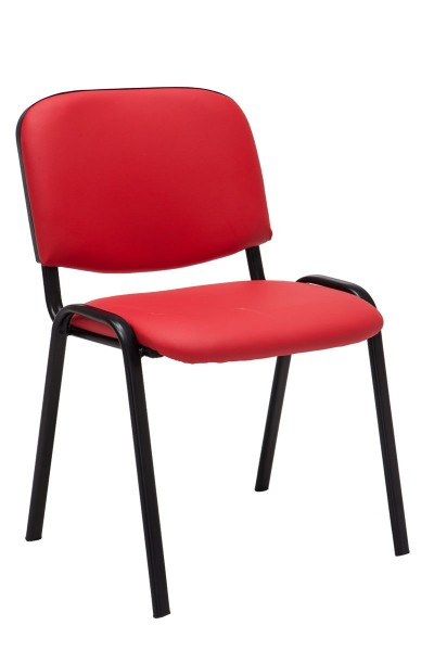 Besucherstuhl Ken Kunstleder, rot