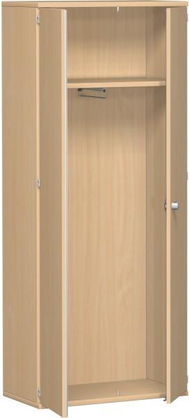 Garderobenschrank mit ausziehbarem Garderobenhalter, 80x42x192cm, Buche