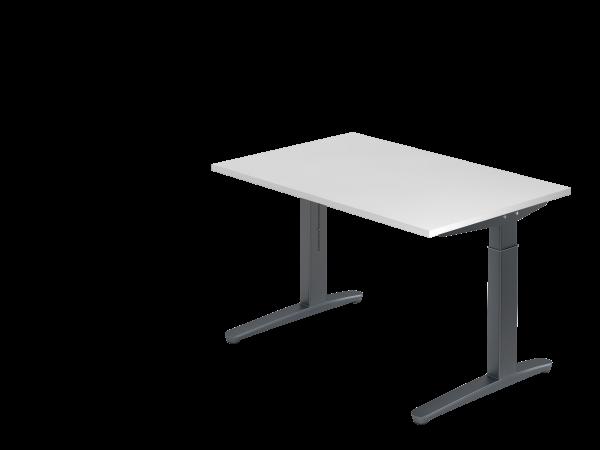 Schreibtisch C-Fuß 120 x 80 cm Weiß / Graphit