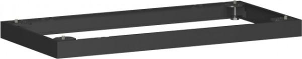 Metallsockel, Auswahl entsprechend Schrankbreite, 100x5cm, Schwarz