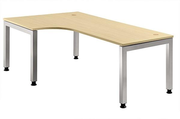 Winkeltisch 90° U-Fuß eckig 200 x 120 cm