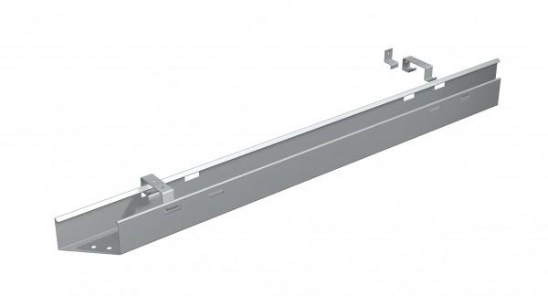 Kabelkanal zur Befestigung an der Tischplatte, 180cm, Silber