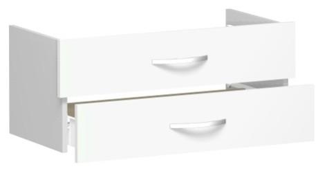 Schubkasteneinsatz für Korpusbreite 80 cm, 1 Ordnerhöhe, Weiß