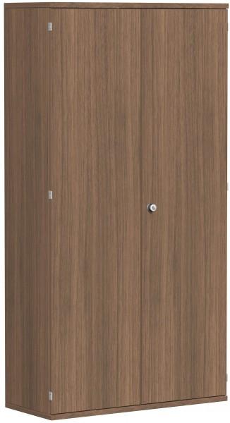 Garderobenschrank mit ausziehbarem Garderobenhalter, 100x42x192cm, Nussbaum