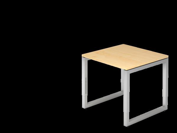 Schreibtisch O-Fuß eckig 80 x 80 cm