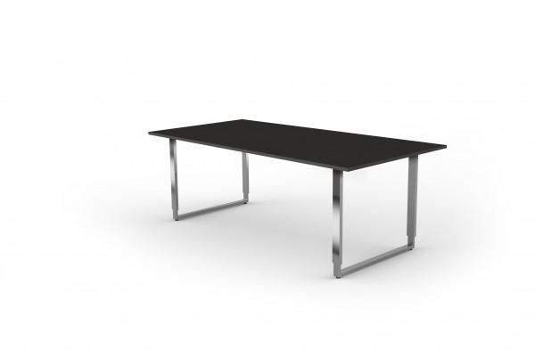 Schreibtisch Aveto, 200x100x68-82 cm, Bügelgestell, Anthrazit