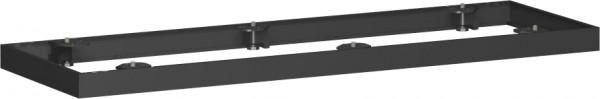 Metallsockel für Querrollladenschrank, 160x5cm, Schwarz
