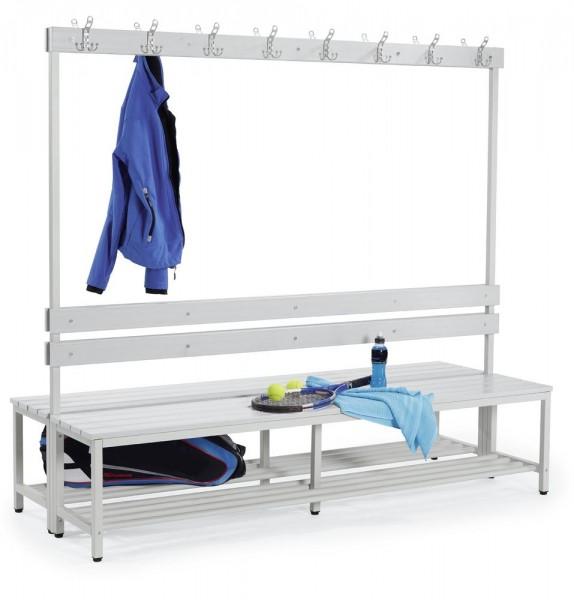 Sitzbank mit Kunststoffleisten 185x200x76 cm