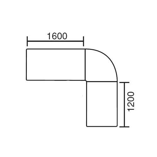 SET Winkelkombination rund MULTI M 240x200x74 cm