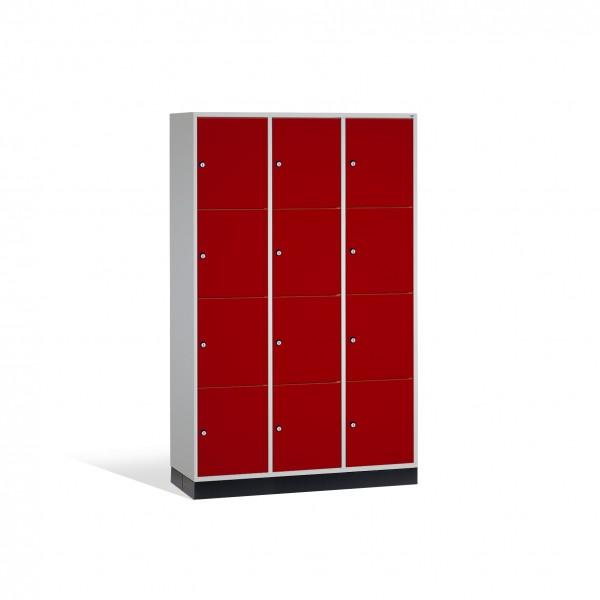 Schließfachschrank Intro, 12 Fächer, 195x122x50cm