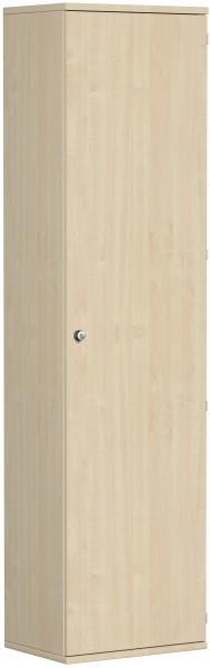 Garderobenschrank mit ausziehbarem Garderobenhalter, 60x42x230cm, Ahorn