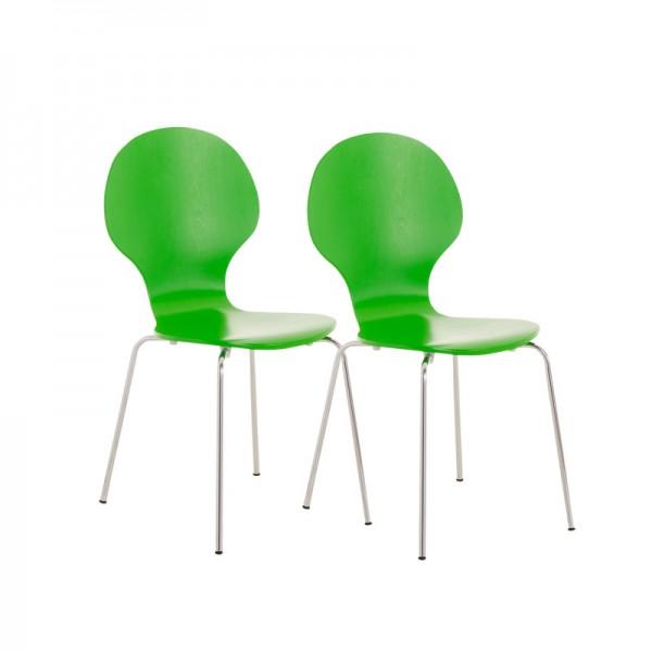 2er Set Besucherstuhl Diego, grün