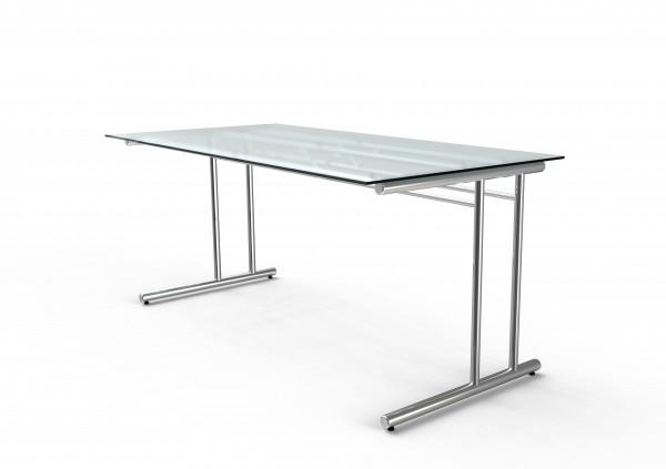 Kerkmann Schreibtisch 7366 Artline Transparent 160x80x72cm Glas
