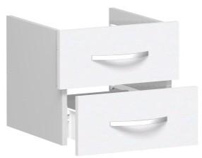 Schubkasteneinsatz für Korpusbreite 40 cm, 1 Ordnerhöhe, Weiß
