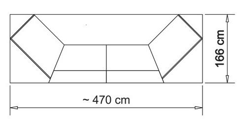 Kerkmann Atlantis Beratungstheke Weiß / Glas 470x166cm
