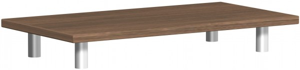 Aufsatzplatte, 80x42x11cm, Nussbaum