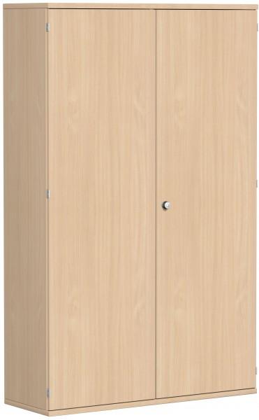 Garderobenschrank mit ausziehbarem Garderobenhalter, 120x42x192cm, Buche