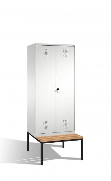 Doppelspind Evolo mit Sitzbank, 2 Abteile, 209x80x50/81cm
