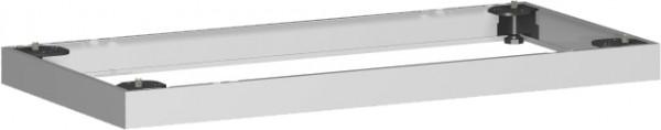 Metallsockel, Auswahl entsprechend Schrankbreite, 100x5cm, Silber