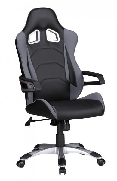 SPEED Bürostuhl, Schreibtischstuhl, Chefsessel, Grau