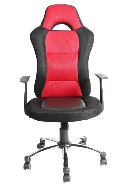 Bürostuhl Jerry, schwarz, rot