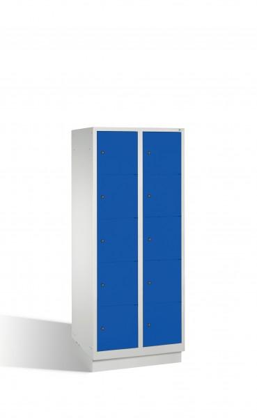 Fächerschrank Classic auf Sockel, 10 Fächer, 180x81x50cm