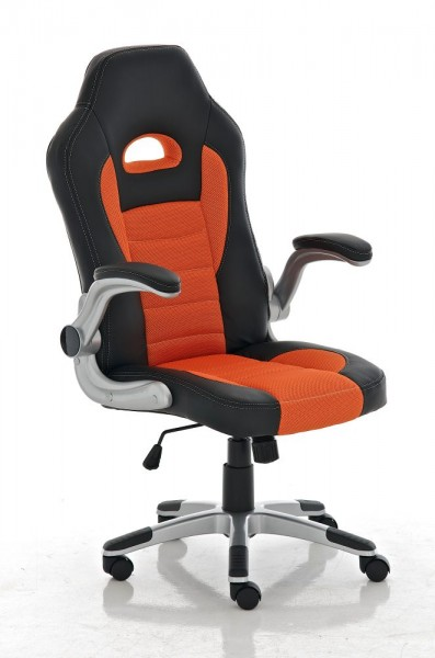 Bürostuhl John, schwarz, orange