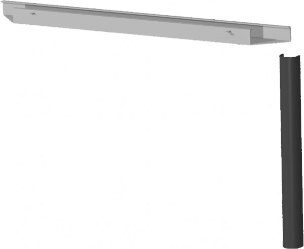 PC-Elektrifizierungs-Set für Schreibtische, 180cm, Silber