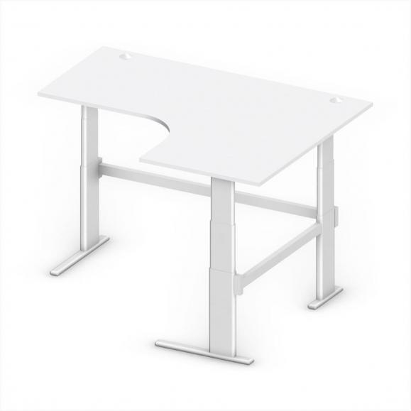 Sitz-/Stehschreibtisch Jumboform Comfort MULTI M 180 x 140 x 65,5-130 cm Freiform rechtsseitig