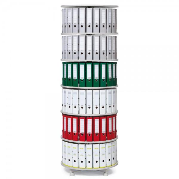 Ordnersäule mit 6 Etagen H 229 cm, Durchmesser 80 cm