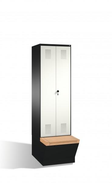 Doppelspind Evolo mit Sitzbox, 2 Abteile, 209x60x50/81cm