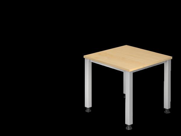 Schreibtisch 4-Fuß eckig 80 x 80 cm