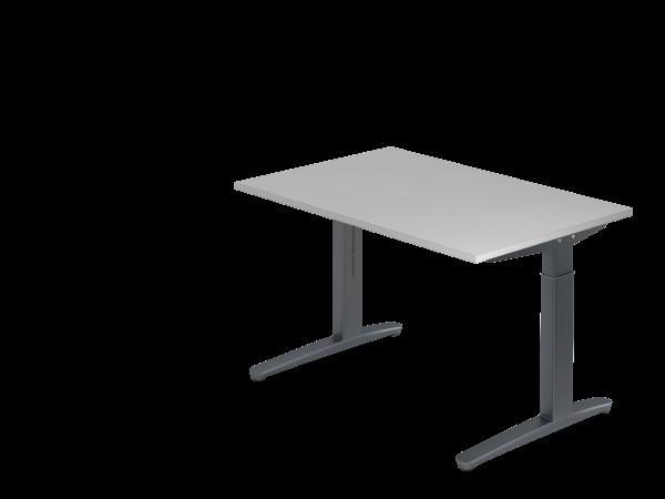 Schreibtisch C-Fuß 120 x 80 cm Grau / Graphit