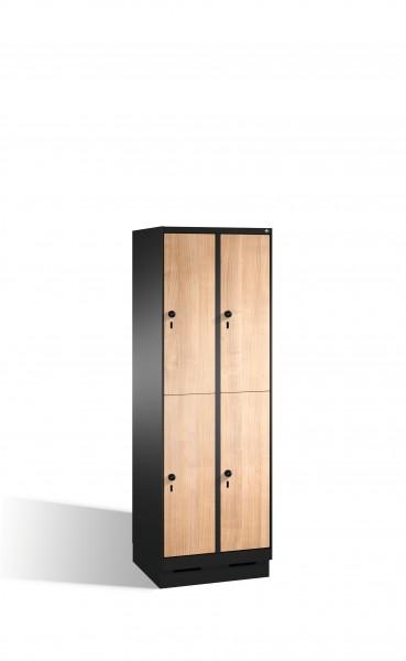 Doppelstockspind Evolo auf Sockel, 4 Fächer, 180x60x50cm